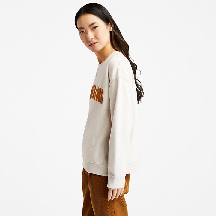 Sudadera de Pana con Logotipo Ecoriginal para Mujer en blanco-