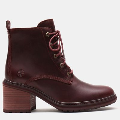 Sienna+High+Lace-Up+Boot+for+Women+in+Burgundy