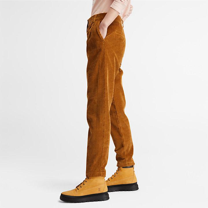Pantalones de Pana para Mujer en marrón-