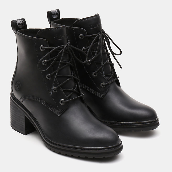 Sienna High Lace-Up Boot for Women in Black-