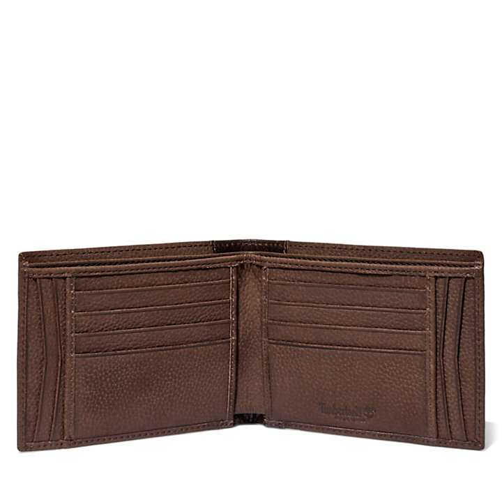 Grand portefeuille Ashfield pour homme en marron-