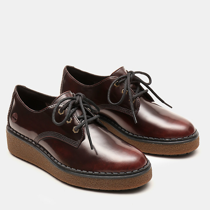 Bluebell Lane Derby for Women in Burgundy-