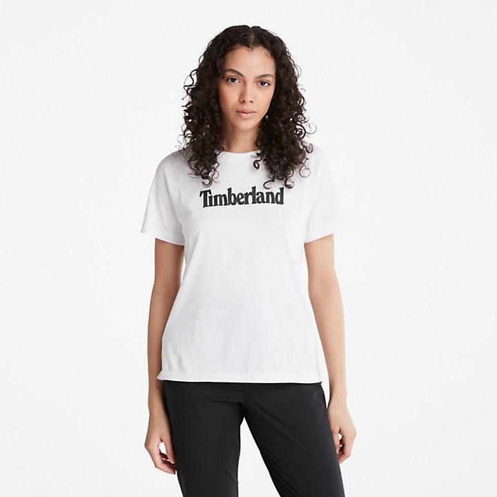 Camiseta con Logotipo para mujer en blanco-