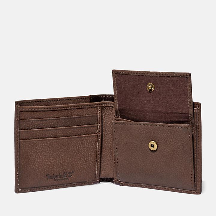 Portefeuille Ashfield avec porte-monnaie pour homme en marron-