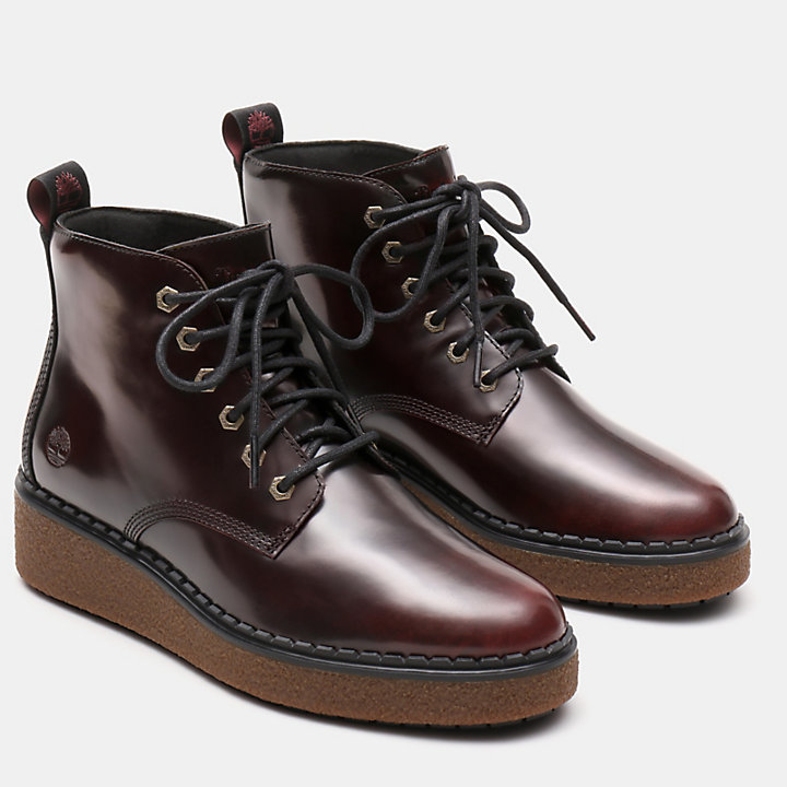 Bluebell Lane Lace Up Boot for Women in Burgundy-