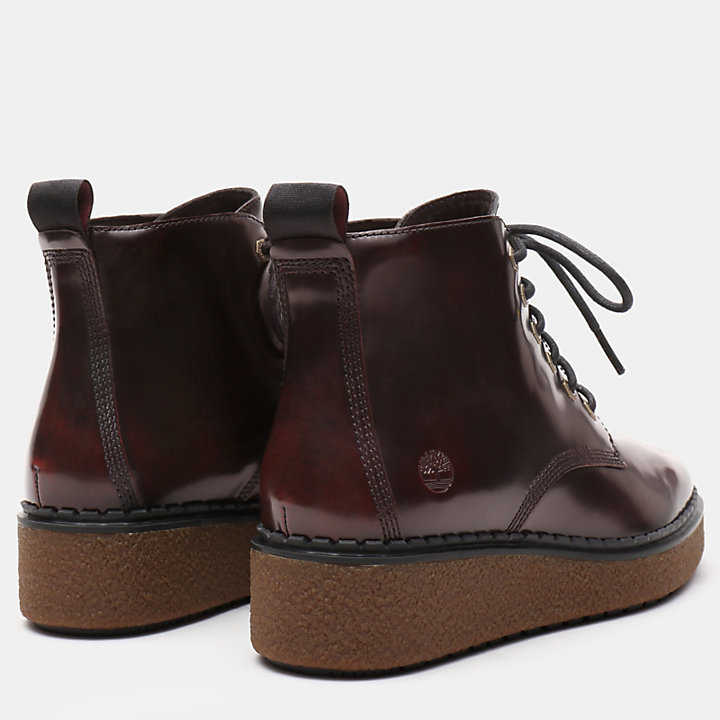 Bottine à lacets Bluebell Lane pour femme en bordeaux-