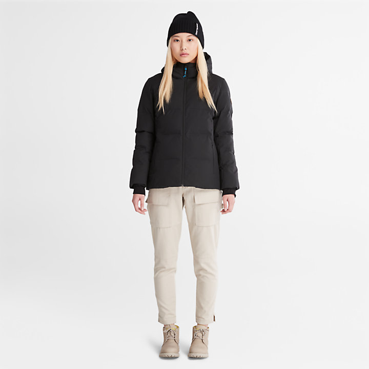 Down-Free Insulated Jacket for Women in Black-