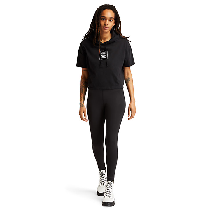 Outdoor Archive Hooded T-Shirt for Women in Black-