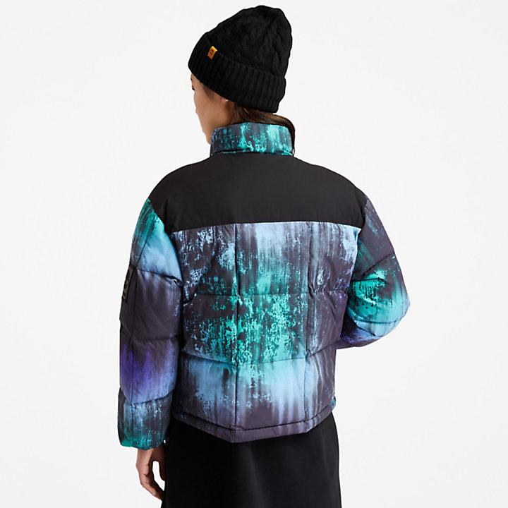 Chaqueta Acolchada NL Sky para Mujer con estampado de aurora boreal-