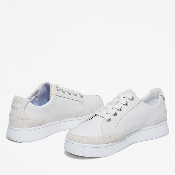 Atlanta Green Sneaker for Women in White-