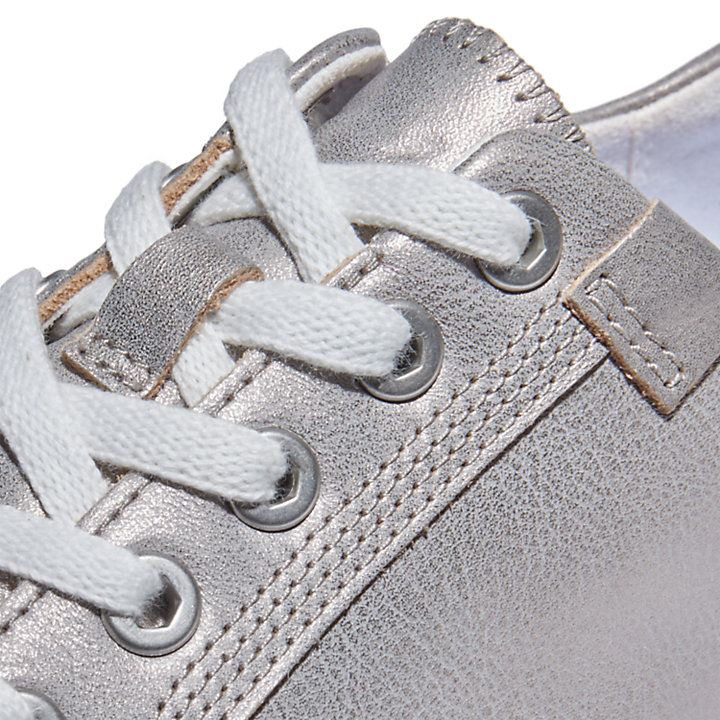 Atlanta Green Sneaker for Women in Silver-