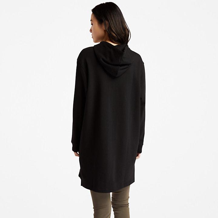 Vestito con Cappuccio da Donna Core in colore nero-