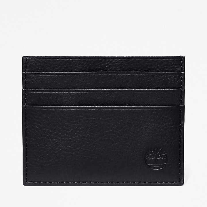 Leather Card Holder & Keyring Gift Set for Men in Black-
