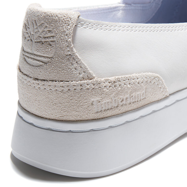 Chaussure à enfiler Atlanta Green pour femme en blanc-