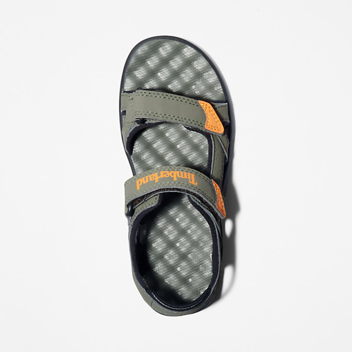 Perkins Row 2-Strap Sandal for Youth in Dark Green-