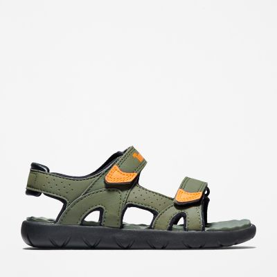 Perkins+Row+2-Strap+Sandal+for+Youth+in+Dark+Green
