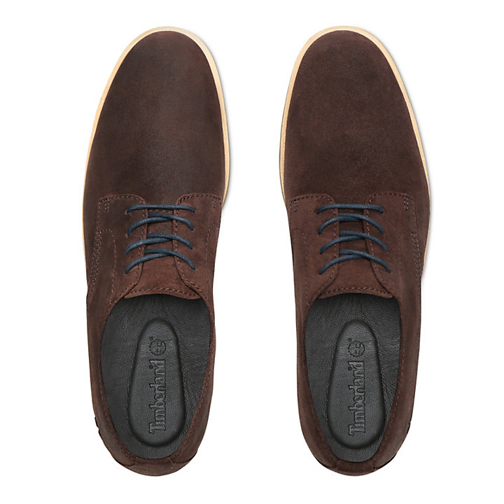 Folk Gentleman Oxford for Men in Dark Brown-