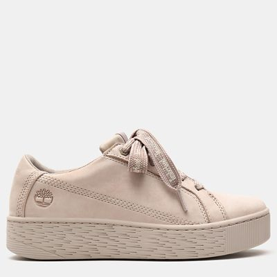 Marblesea+Leather+Sneaker+voor+Dames+in+taupe