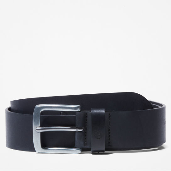 Casual Leather Belt for Men in Black | Timberland