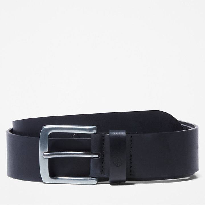 Casual Leather Belt for Men in Black-