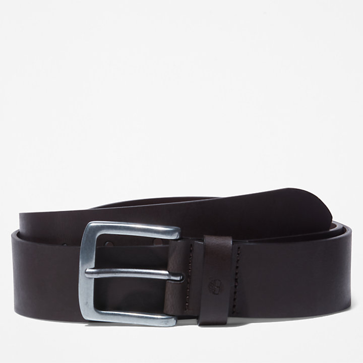 Casual Leather Belt for Men in Brown-