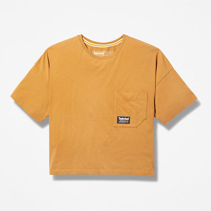 Progressive Utility Pocket T-Shirt for Women in Dark Yellow-