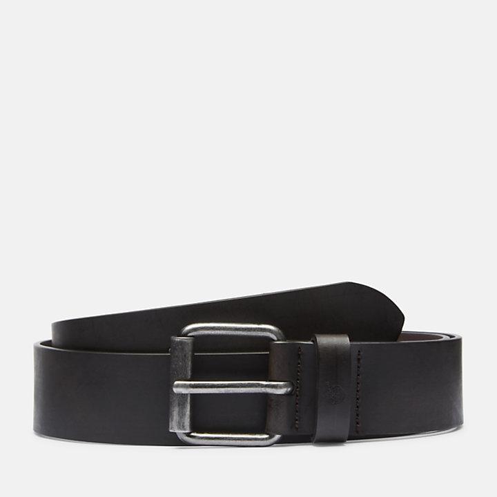 Cinturón de Cuero con Hebilla de Estilo Antiguo para Hombre en marrón-