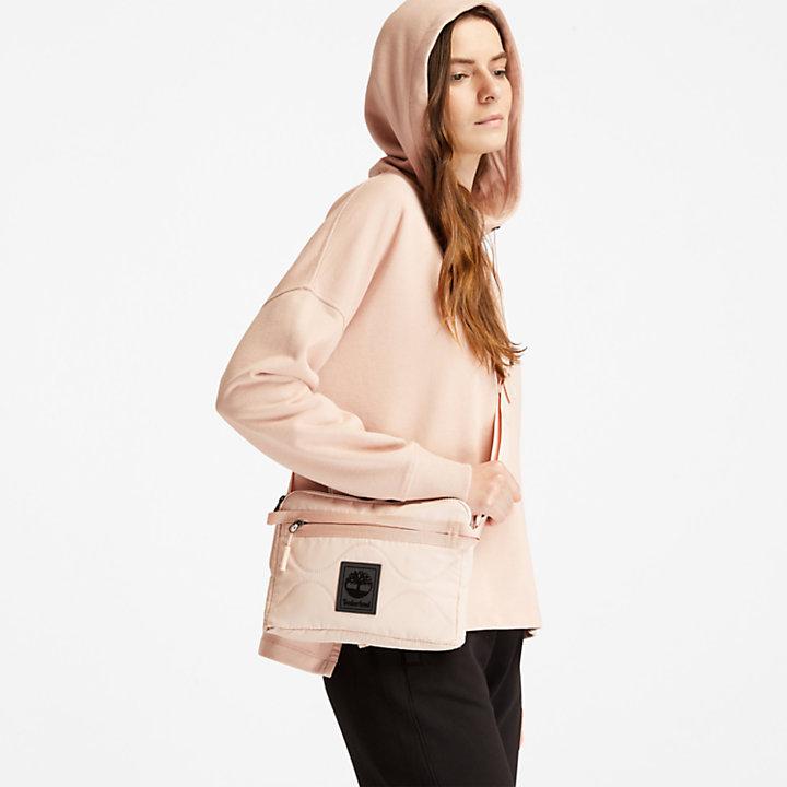 Sweat à capuche à motif au dos pour femme en rose clair-