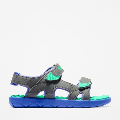 Perkins+Row+Strappy+Sandal+for+Youth+in+Grey