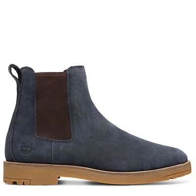 Folk+Gentleman+Chelsea+Boot+voor+Heren+in+Marineblauw