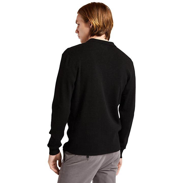 Full-Zip Sweater for Men in Black-