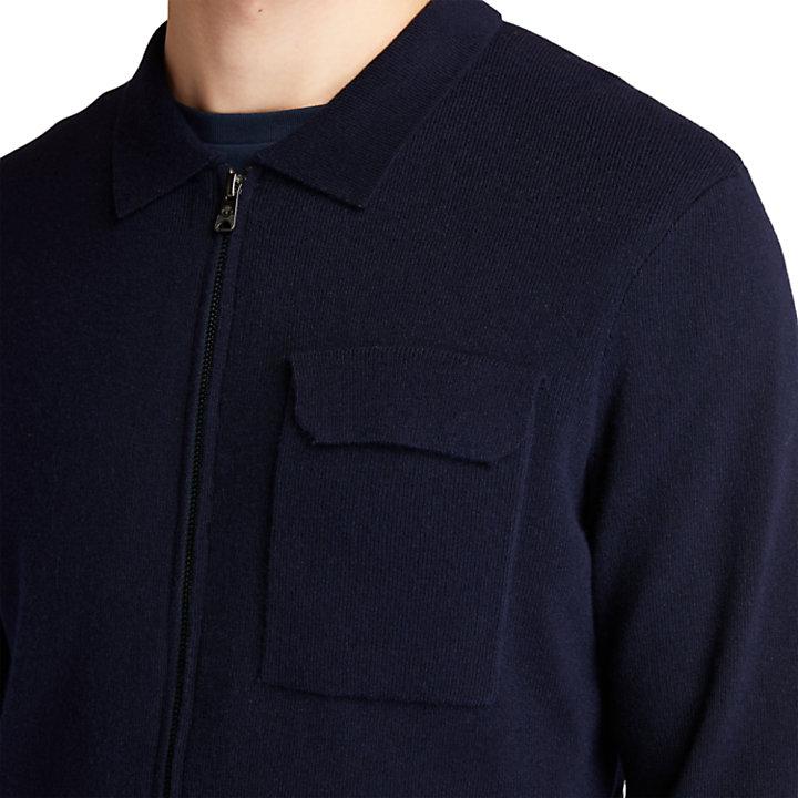 Jersey con Cremallera para hombre en azul marino-