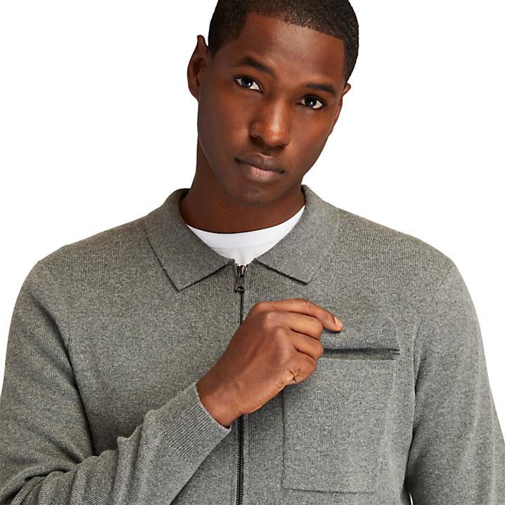 Reißverschluss-Pullover für Herren in Dunkelgrau-