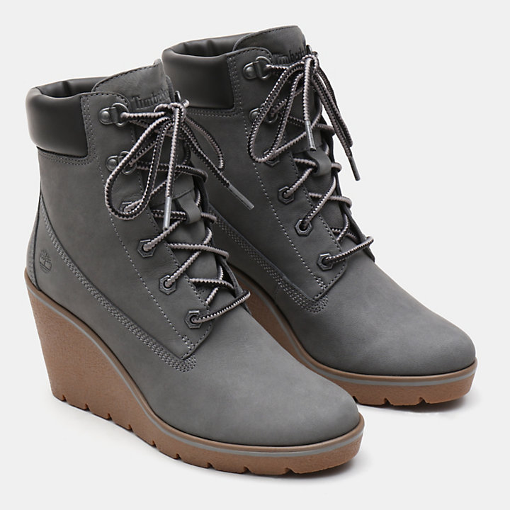 Paris Height 6 Inch Boot for Women in Grey-