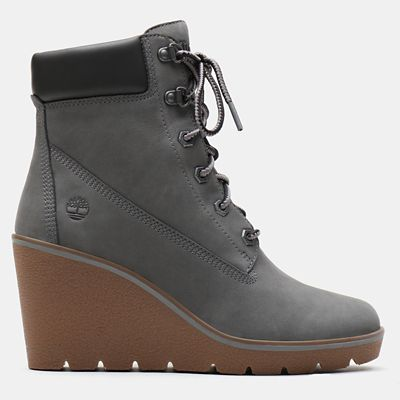 Paris+Height+6+Inch+Boot+for+Women+in+Grey