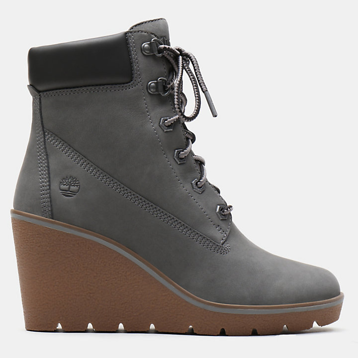 Paris Height 6 Inch Boot voor Dames in grijs-