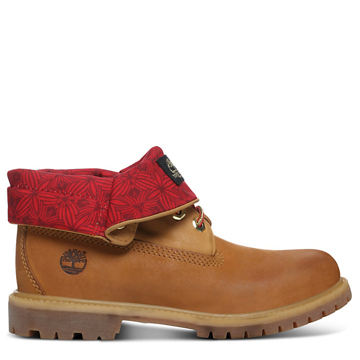 Chinese New Year Roll Top Stiefel Herren in Gelb-