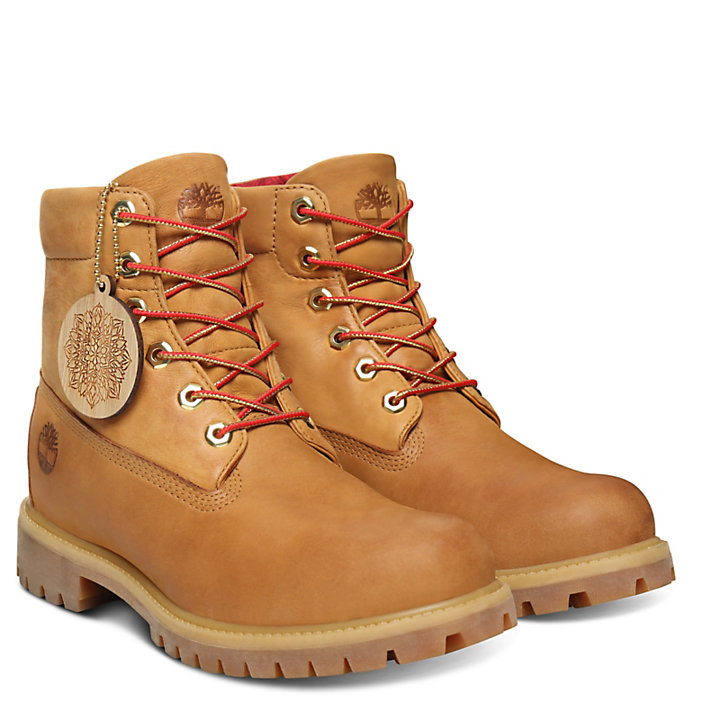 Chinese New Year Roll Top Boot for Men in Yellow-