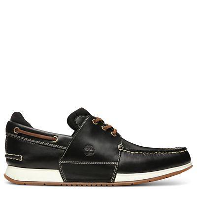 26cf90e0b08 Chaussure bateau Heger s Bay pour homme en noir