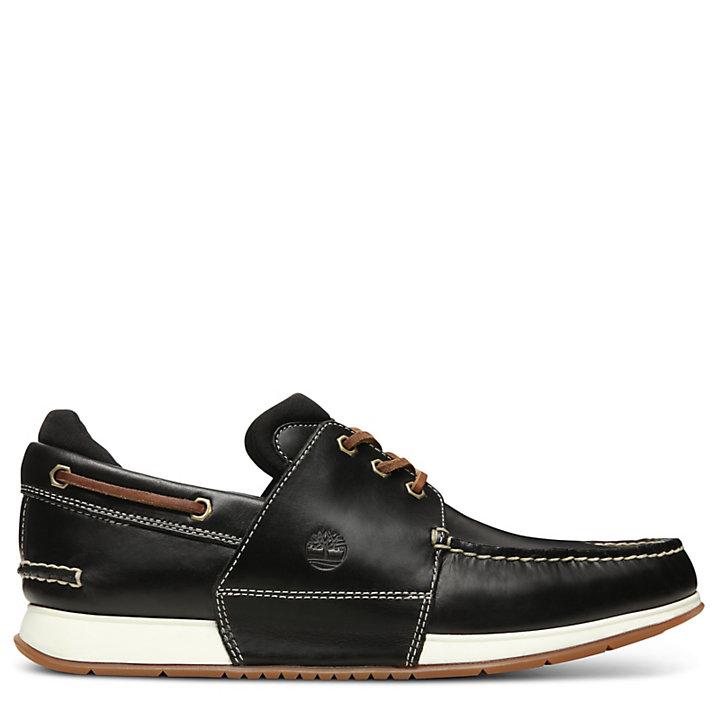 Chaussure bateau Heger's Bay pour homme en noir-