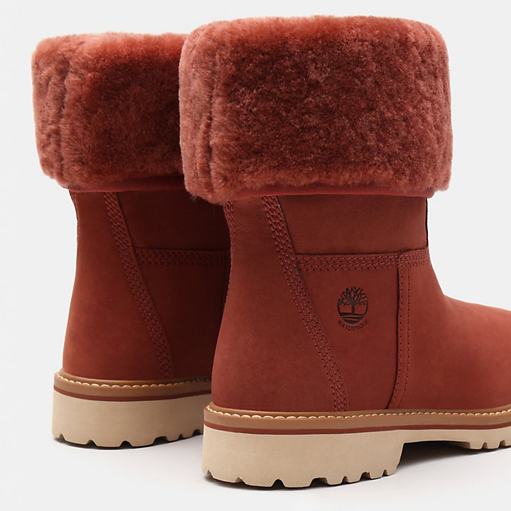 Stivaletto da Donna in Shearling Chamonix Valley in marrone-