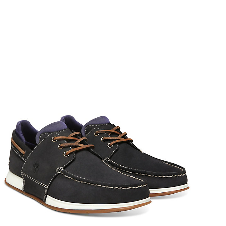 Heger's Bay Boat Shoe for Men in Navy-