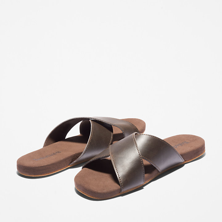 Seaton Bay Sandal for Men in Dark Brown-
