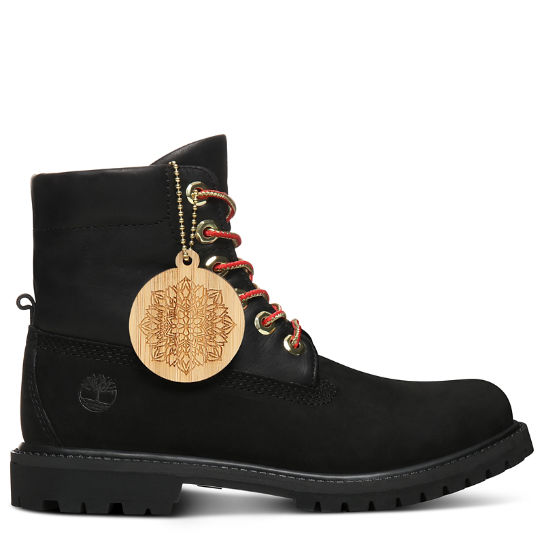 Chinese New Year Roll Top Stiefel für Damen in Schwarz | Timberland