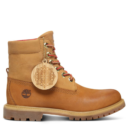Chinese New Year Roll Top Boot for Women in Yellow | Timberland