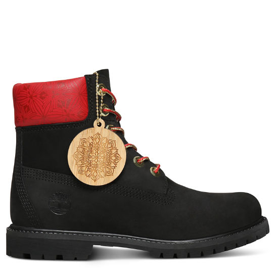 Chinese New Year 6 Inch Boot for Women in Black | Timberland