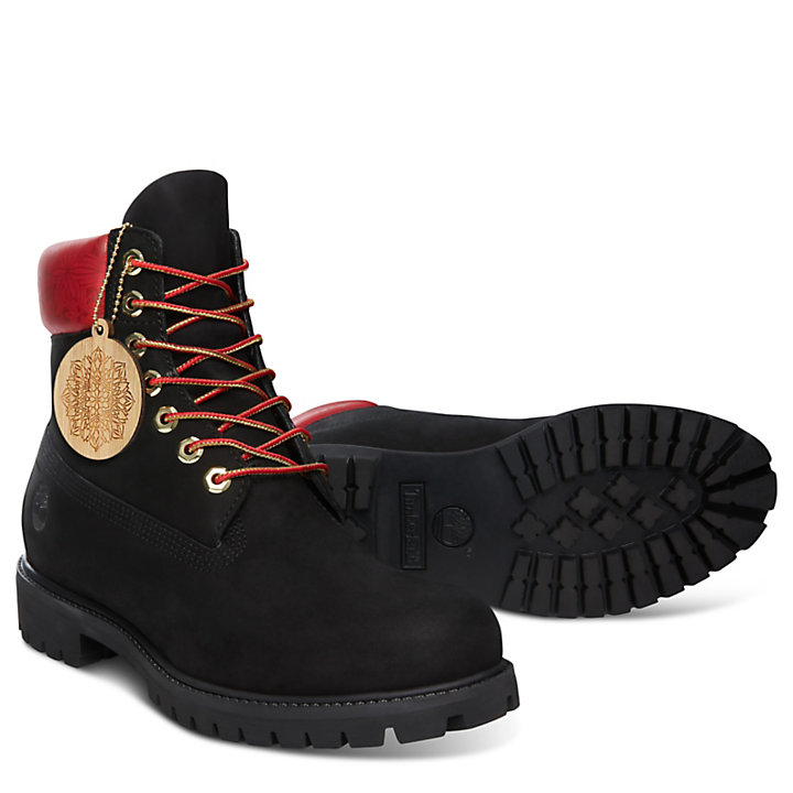 Chinese New Year 6 Inch Boot for Men in Black-