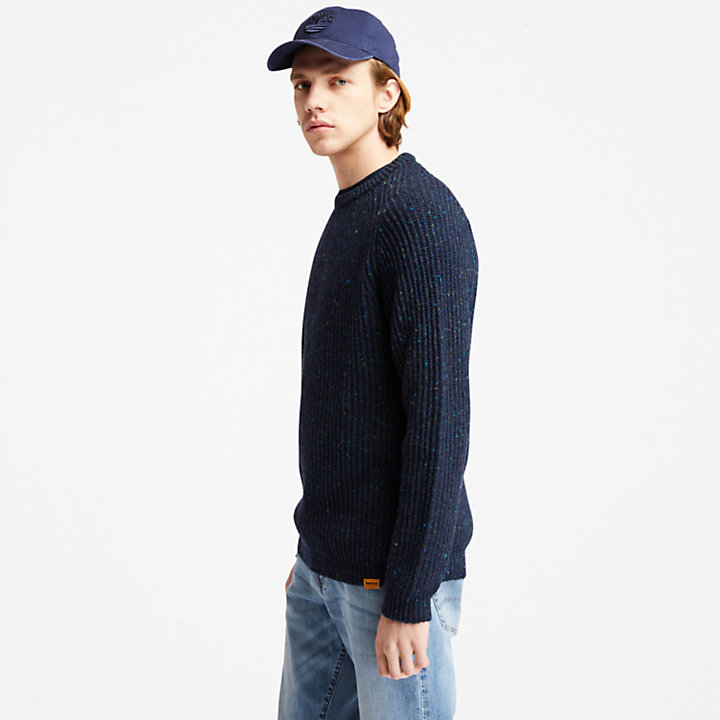 Naps Yarn Sweater For Men in Navy-
