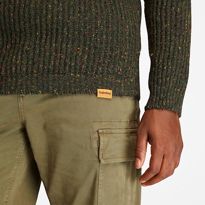 Naps Yarn Sweater For Men in Dark Green-