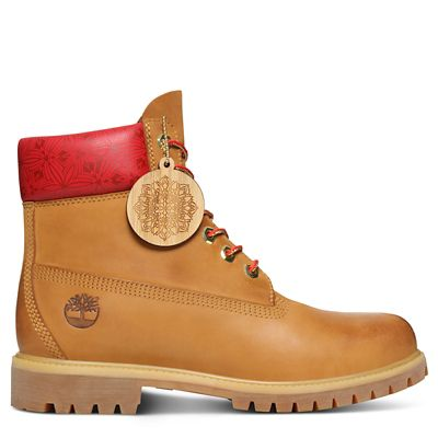 6-Inch+Boot+Chinese+New+Year+pour+homme+en+jaune